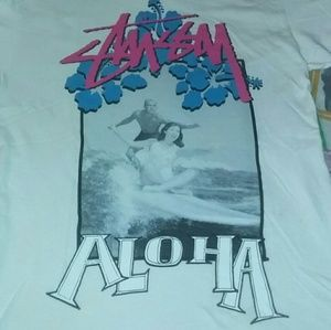 Stussy Aloha Hawaii Vinage Shirt Surf Skateboard
